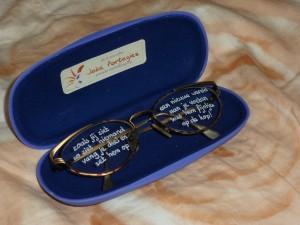 metgezel (vruchtbaar) bril € 22,- inclusief brillenkoker € 32,-